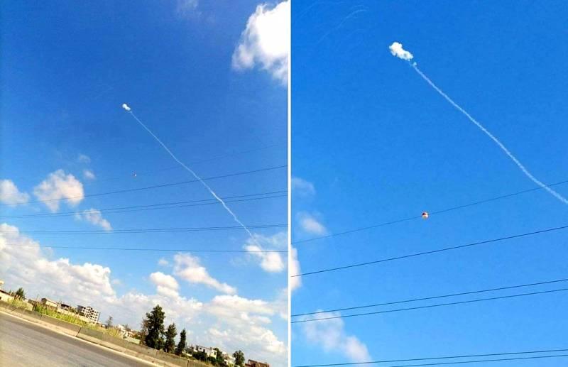 Отражение атаки: на фото попал момент перехвата неизвестного объекта в небе над Хмеймимом Новости