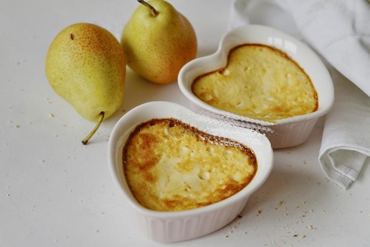 Творожное суфле с грушей и мёдом выпечка,десерты,кулинария