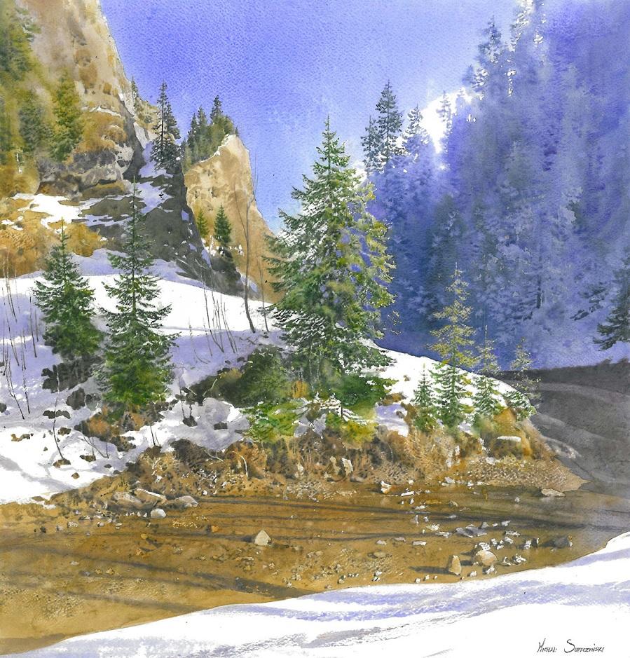Что могут выразить слова о той красе, что так мила... Акварельные пейзажи Michal Suffczynski
