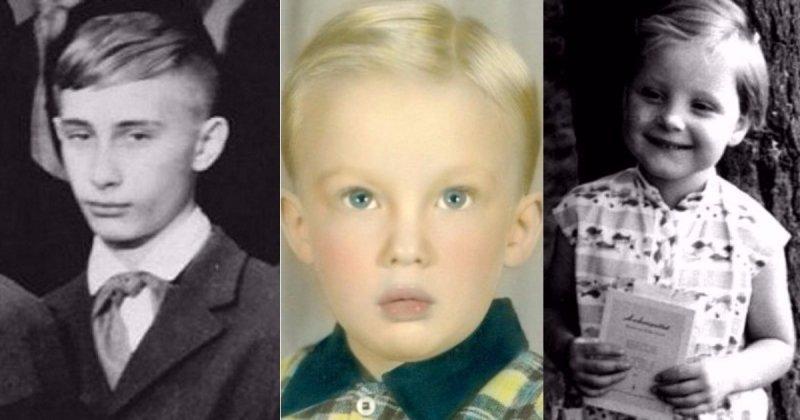 Такими вы их еще не видели: мировые лидеры в детстве и юности Меркель, Трамп, детство, история, медведев, путин, юность
