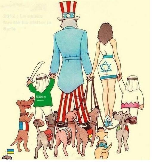 """Американский дипломат опубликовал карикатуру о """"друзьях"""" США. Внимание в левый нижний угол"""