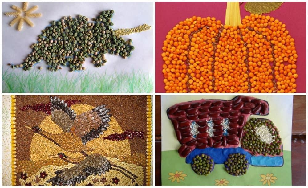 Варианты изготовления панно из круп могут быть самыми разнообразными