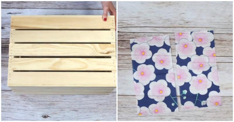 Салфетка + деревянный ящик: неожиданный и удачный декор для дома