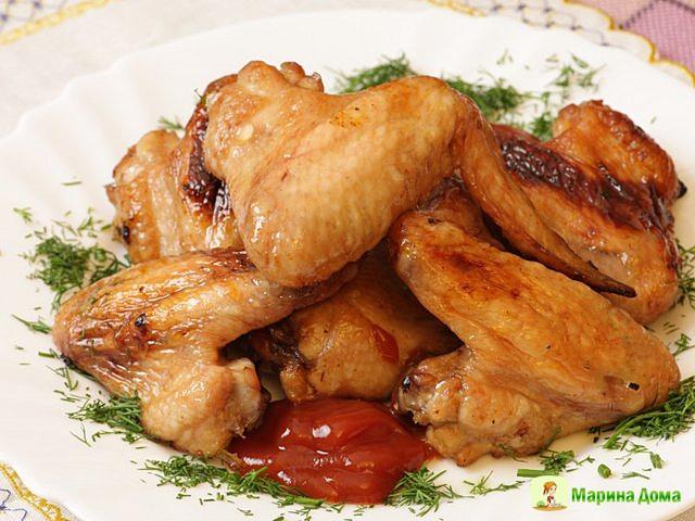 Куриные крылышки в кока -коле