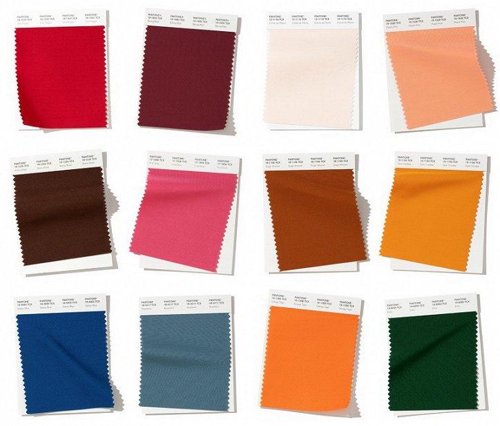 Институт  Пантон - модные цвета осень-зима 2019-2020