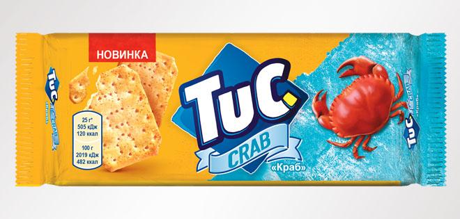 """Крекер TUC """"Краб"""" – морская новинка в линейке любимых снеков"""