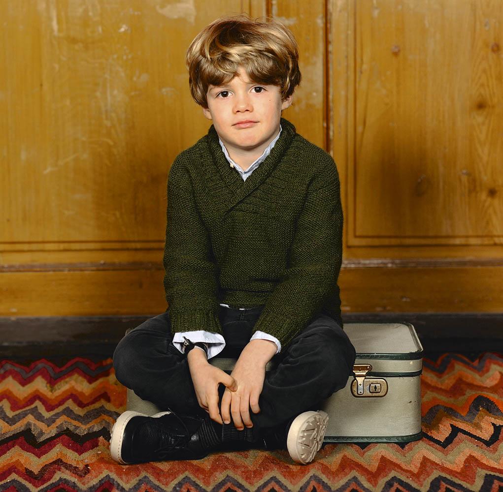 Зеленый пуловер для мальчика