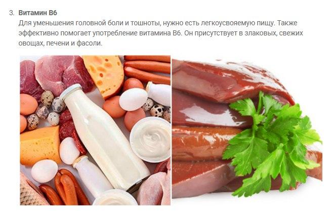 Продукты против мигрени