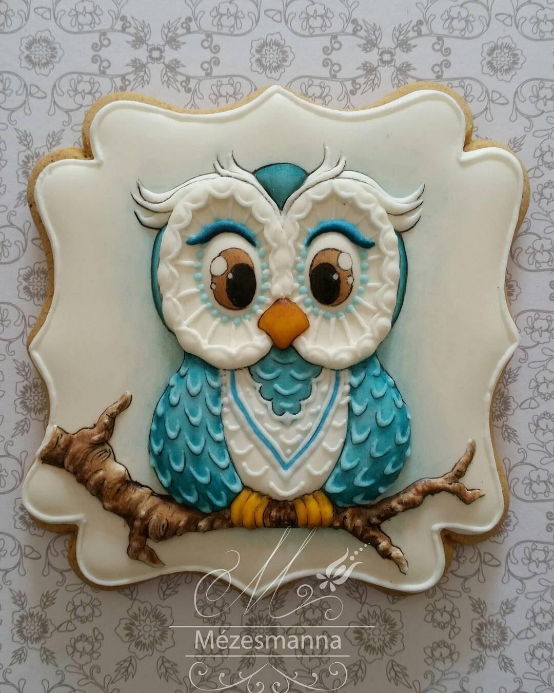 Венгерский кондитер Judit Czinkne Poor рисует на печенье разное,художество