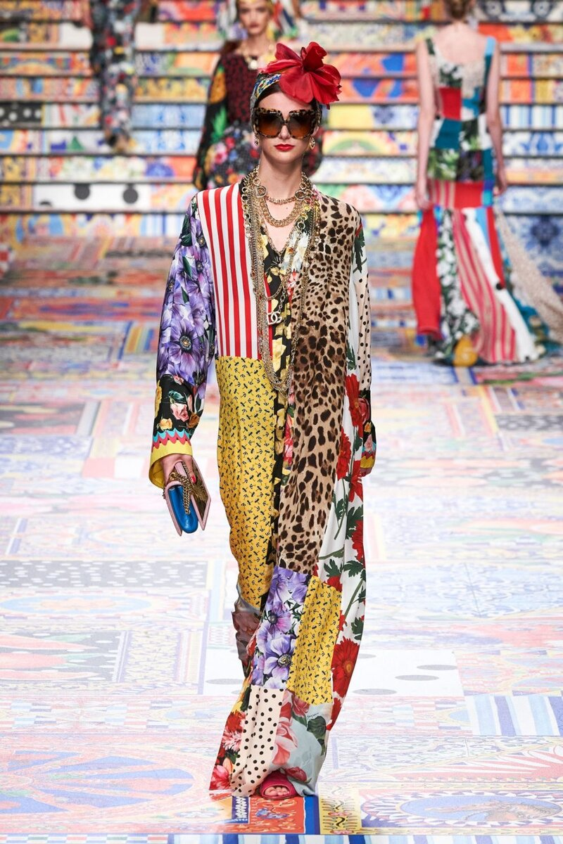 Пэчворк от кутюр- обалденное рукоделие в новой коллекции Dolce&Gabbana