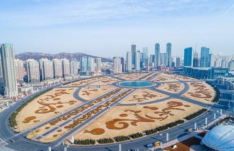 Самая большая площадь в мире - площадь Синьхай в Даляне виды, города, китай, красота, необыкновенно, пейзажи, удивительно, фото