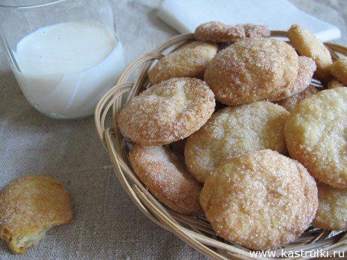 Быстрое печенье на сметане