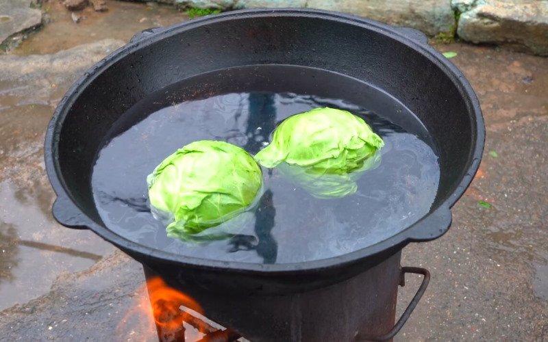 Голубцы в казане по узбекскому традиционному рецепту