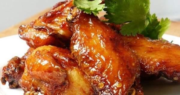 Жареные куриные крылышки в мандариновом маринаде - рецепт пошаговый с фото