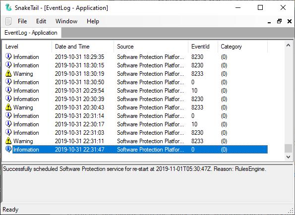 Мониторинг логов Windows с помощью SnakeTail