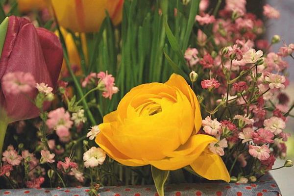 Весенний кантри: красочная сервировка стола для экономных романтиков букеты