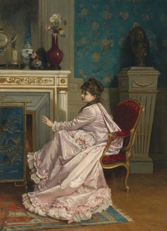 художник Огюст Тульмуш (Auguste Toulmouche) каротины - 11