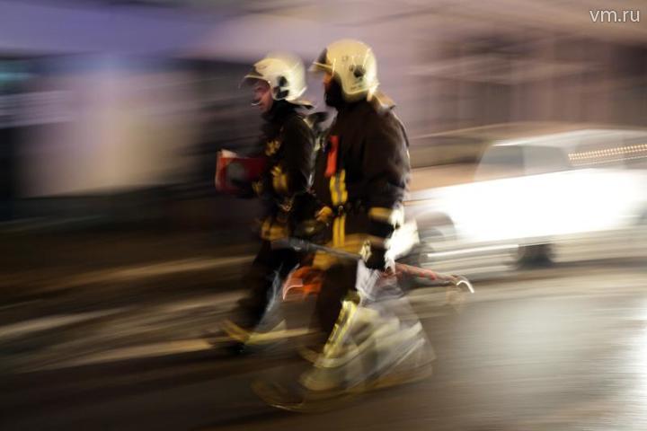 Возле аэропорта Шереметьево произошел пожар