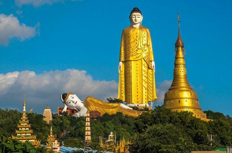 Будда Шакьямуни, 115,8 м. Мьянма в мире, высота, красота, люди, памятник, подборка, статуя, факты