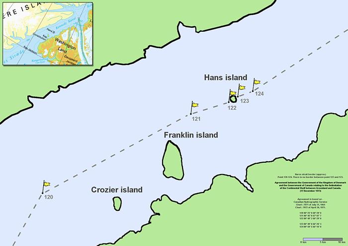 Самая интеллигентная война между Канадой и Данией за остров Ганса