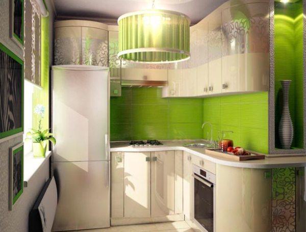 Кухня хрущевка 5 кв м дизайн фото с холодильником