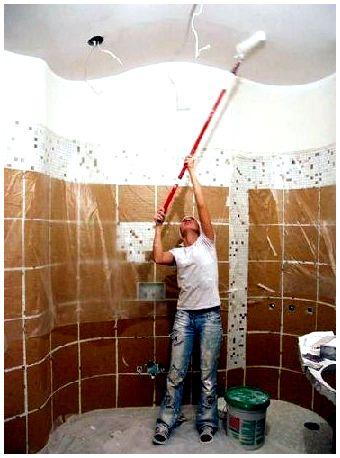 СтройРемПлан. Как и чем покрасить потолок в ванной