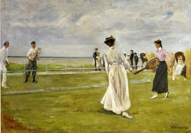 Tennis Game by the Sea. 1901 (673x469, 282Kb)