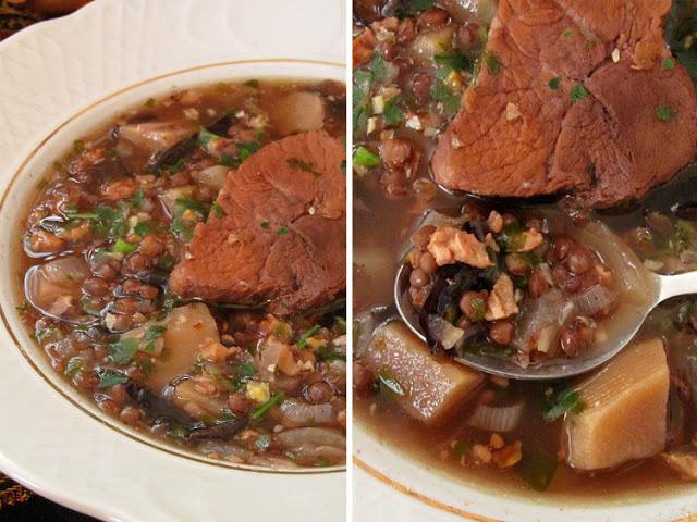 Воспиапур - армянский суп из чечевицы добавить, нарезать, варить, Армении, Очень, чечевицу, супчик, Воспиапур, слегка, обжарить, сливочном, зубчиками, масле, измельченными, мелким, чеснока, Чернослив, полосками, Отдельно, кубиком