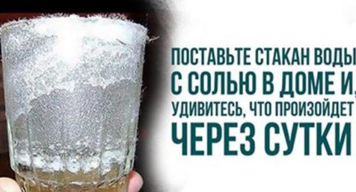 Поставьте дома стакан с водо…