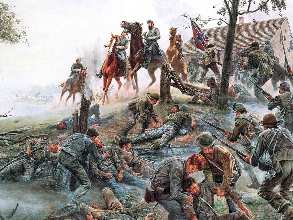 battle of antietam - 736×552