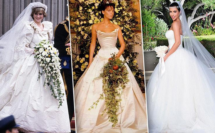 Невеста на миллион: 9 самых дорогих свадебных платьев звезд