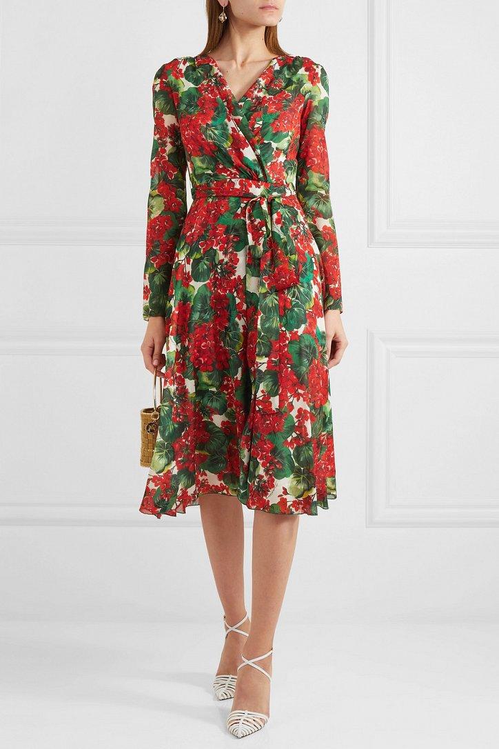 Платья с цветочным принтом - наш ответ серым осенним будням фото №4