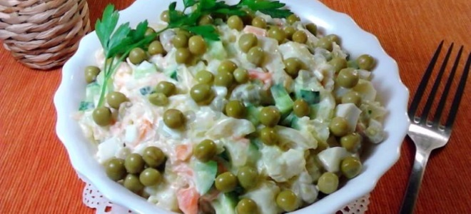 салат с квашеной капустой рецепт