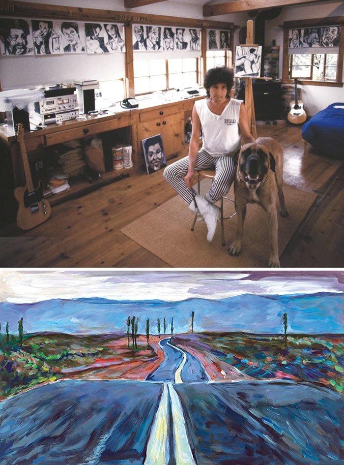 Боб Дилан живопись, звезды, знаменитости, кино, многогранный талант, неожиданное увлечение, художники, эстрада