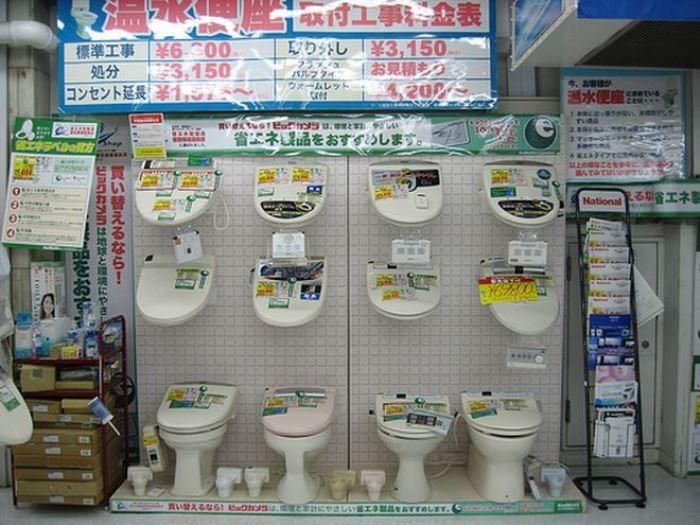 Японский унитаз - диковинка, к которой европейцу нужно морально подготовиться идеи для дома,сантехника