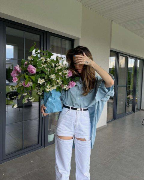 Надя Дорофеева показывает идеальный аутфит на лето
