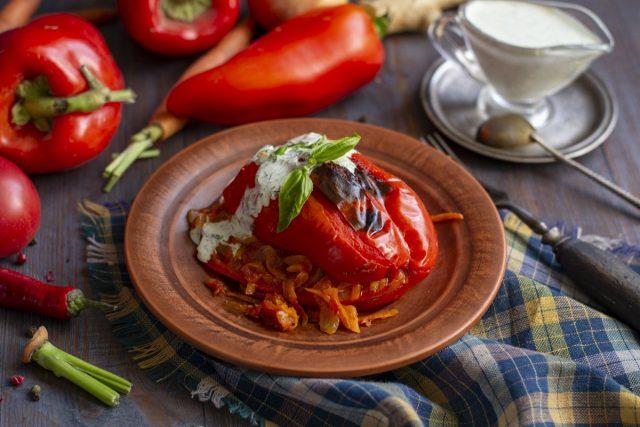 Фаршированный перец по-мексикански — с овощной начинкой кухни мира,овощные блюда