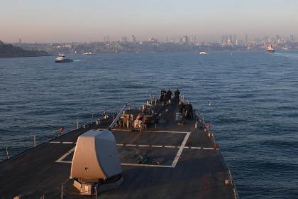 Американский эсминец Porter вновь вошел в Черное море