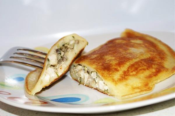 Кефирная кулинария 7-я cтраница Быстрые блинчатые «пирожки» на кефире