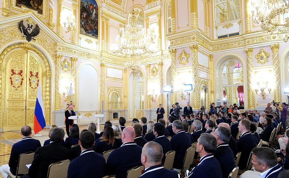 Встреча Владимира Путина с олимпийской сборной России