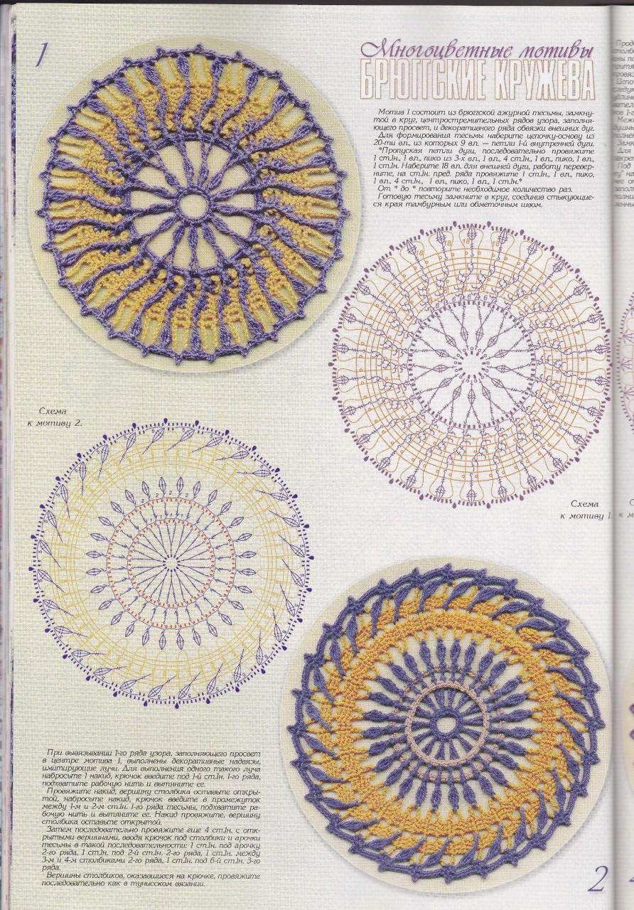 Многоцветные мотивы брюггских кружев