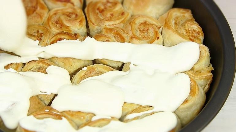 Пирог с фаршем  из слоеного теста: отличная закуска