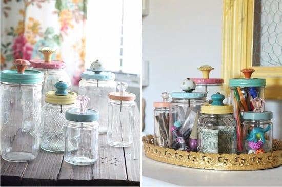 Декор крышек от стеклянных банок