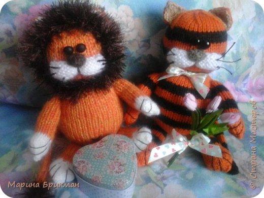 Вязание спицами игрушек — как связать тигренка и львенка(МК)