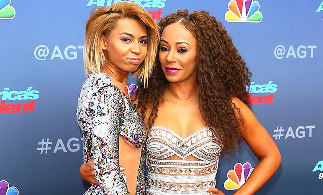 Мелани Браун и ее старшая дочь Финикс оказались в центре внимания на вечеринке шоу America's Got Talent
