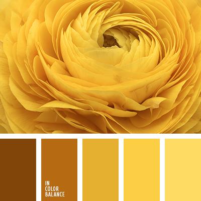 желтая палитра
