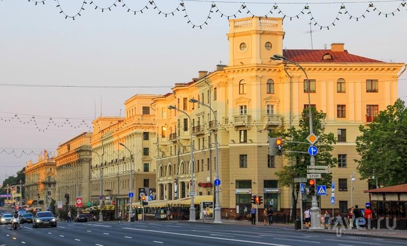 Минск утром и вечером