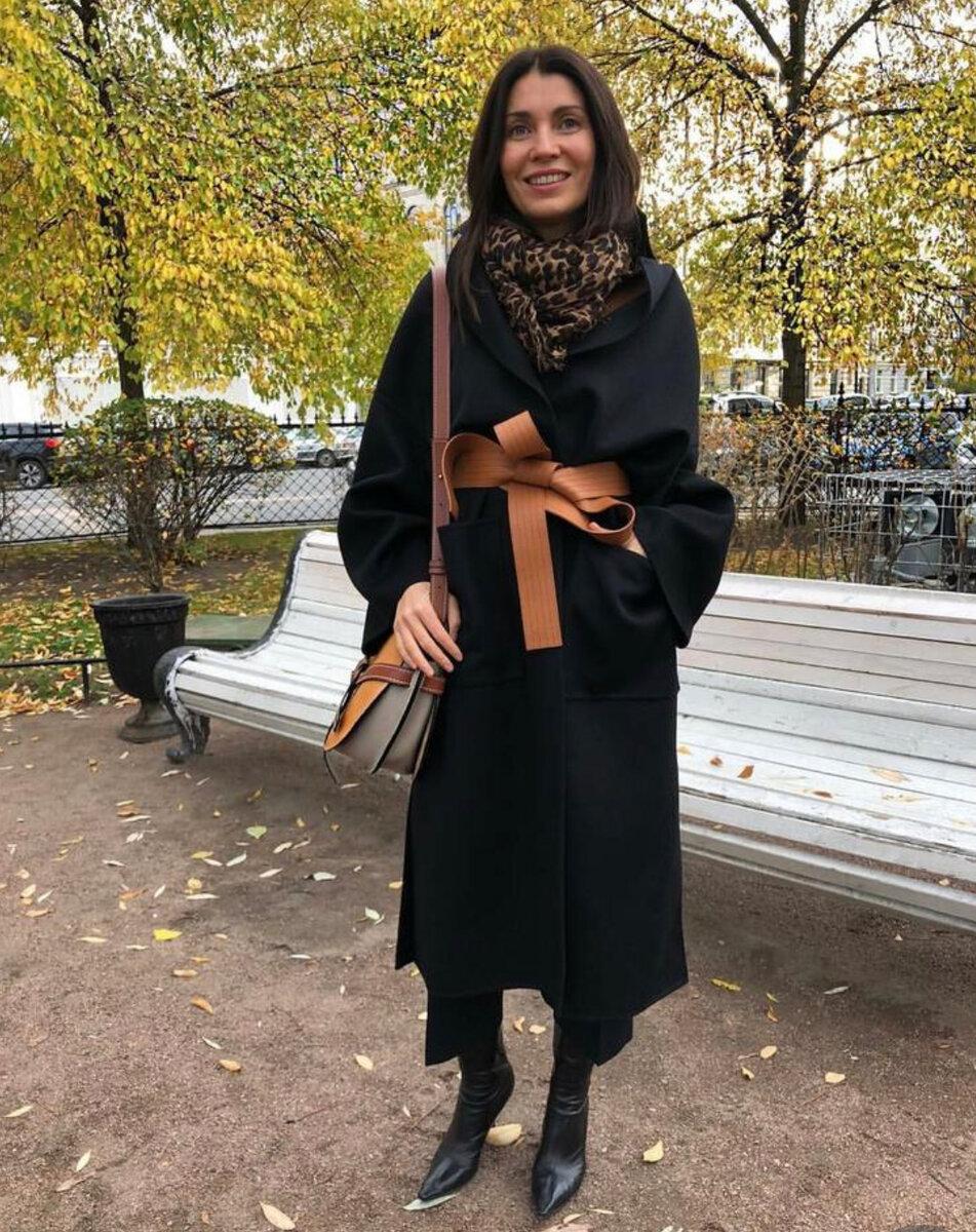Осенние образы от Елены Ромашовой: 13 невероятно стильных идей черный цвет