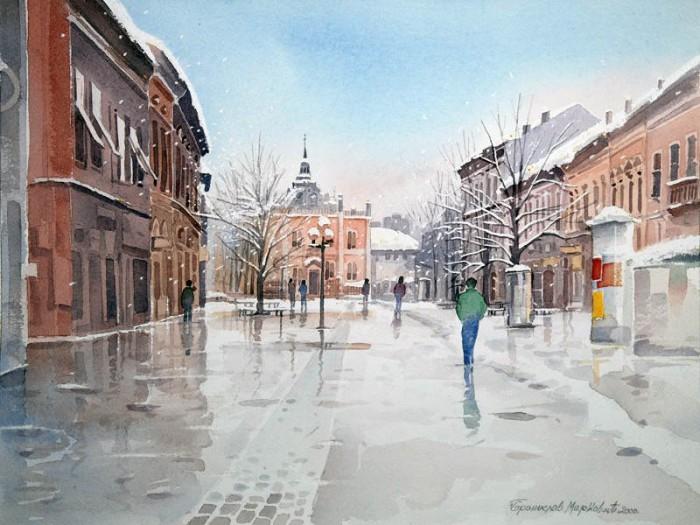 Романтические пейзажи Branislav Marković Umbra живопись