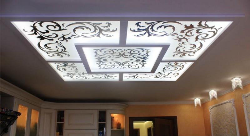 витражный потолок с подсветкой фото